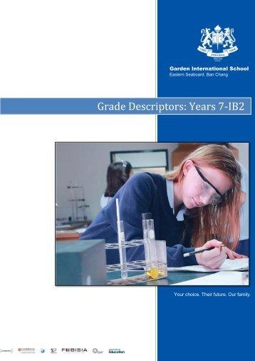 Grade Descriptors Years 7 - IB2