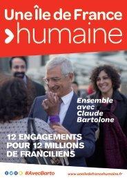 12 ENGAGEMENTS POUR 12 MILLIONS DE FRANCILIENS