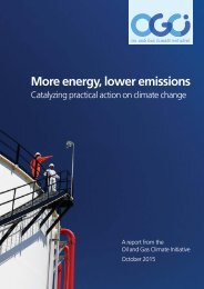 More energy lower emissions