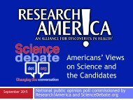 Americans' Views on Science and the Candidates