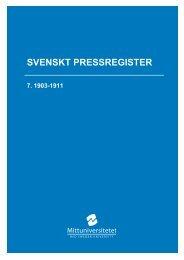 SVENSKT PRESSREGISTER