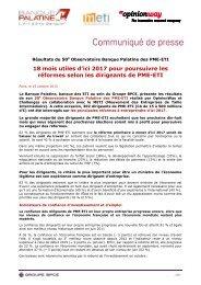 réformes selon les dirigeants de PME-ETI