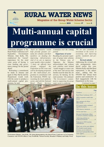 Multi-annual capital programme is crucial