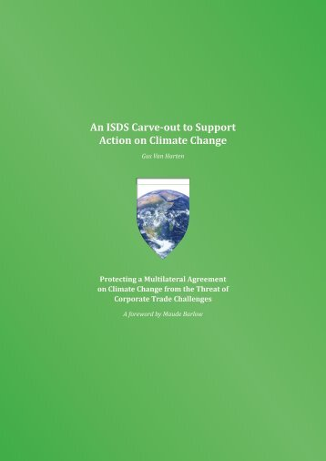 An ISDS Carve-out to Support Action on Climate Change