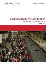 Devolving rail services to London