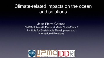 Climate-related impacts on the ocean and solutions