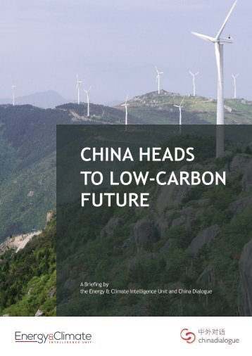 CHINA HEADS TO LOW-CARBON FUTURE