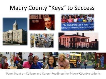 "Maury County ""Keys"" to Success"