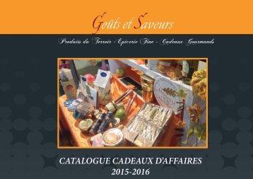 CATALOGUE CADEAUX D'AFFAIRES 2015-2016