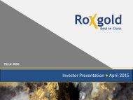 Investor Presentation ● April 2015.