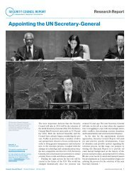 Appointing the UN Secretary-General