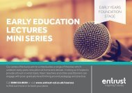 EARLY EDUCATION LECTURES MINI SERIES