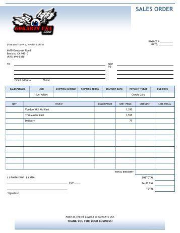 GokartsUSA_Sales order
