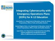 Emergency Operations Plans (EOPs) for K-12 Education