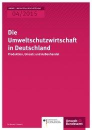 04/2015 Die Umweltschutzwirtschaft in Deutschland
