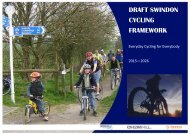 DRAFT SWINDON CYCLING FRAMEWORK