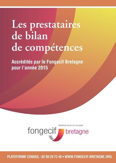 COMPETENCES FONGECIF TÉLÉCHARGER DOSSIER DE BILAN
