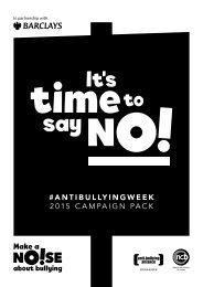 #ANTIBULLYINGWEEK 2015 CAMPAIGN PACK