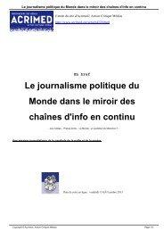 Le journalisme politique du Monde dans le miroir des chaînes d'info en continu
