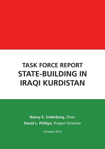 STATE-BUILDING IN IRAQI KURDISTAN