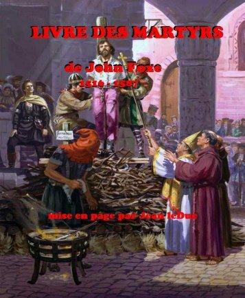 LE LIVRE DES MARTYRS