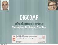 defining being digitally competent Slavi Stoyanov, José Janssen - JRC