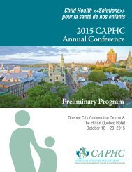 2015 CAPHC Annual Conference