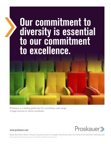 Our commitment to diversity is essential to our commitment to excellence