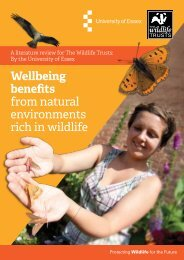 from natural environments rich in wildlife