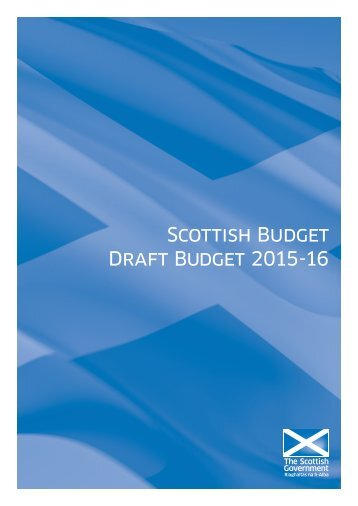 Scottish Budget Draft Budget 2015-16