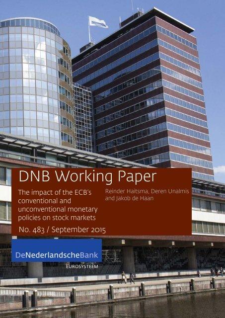 DNB Working Paper