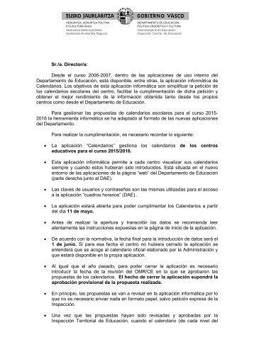 Sr./a. Director/a: Desde el curso 2006-2007, dentro de las ...