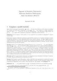 Appunti - Dipartimento di Matematica