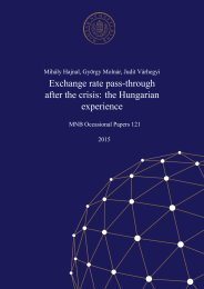 Exchange rate pass-through after the crisis the Hungarian experience