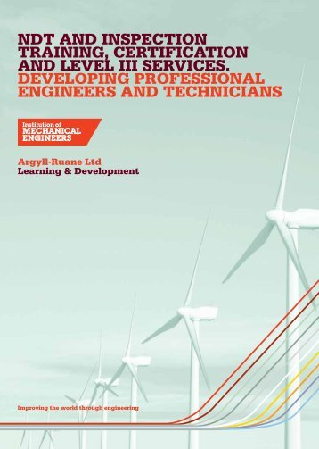 ndt training, certification and level iii services. developing