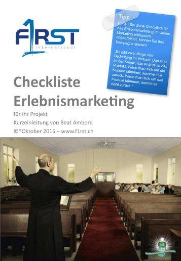 Checkliste Erlebnismarketing