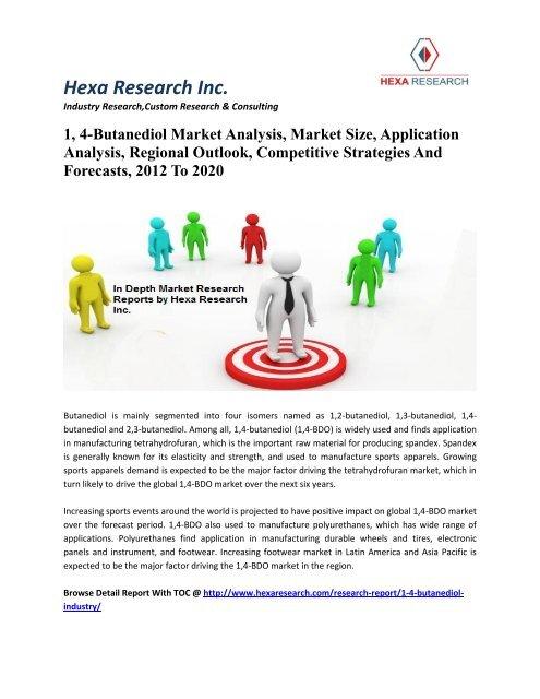 1, 4-Butanediol Market Analysis, Market Size, Application Analysis