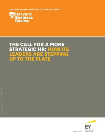 STRATEGIC HR HOW ITS LEADERS ARE STEPPING UP TO THE PLATE
