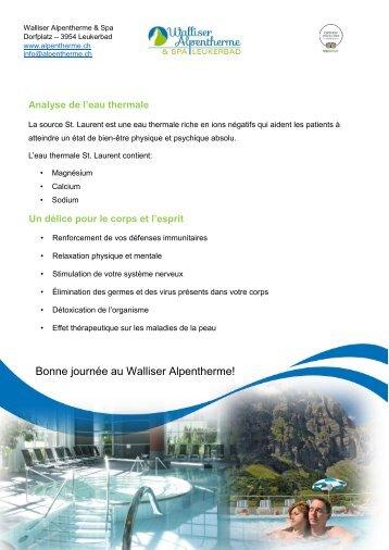 Walliser Alpentherme & Spa Leukerbad - les bienfaits des bains thermaux