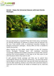 Kerala – Enjoy the Universal Heaven with best Kerala Packages