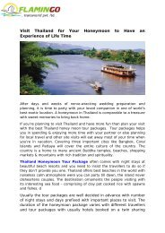 Visit Thailand for Your Honeymoon to Have an Experience of Life Time