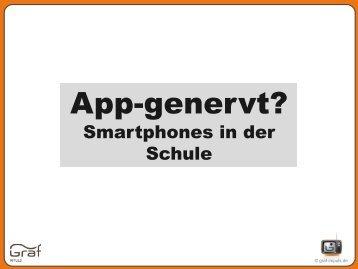 App-genervt? Smartphones in der Schule
