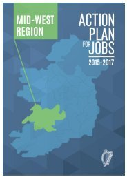 Action Plan for Jobs Mid West Region 2015-2017