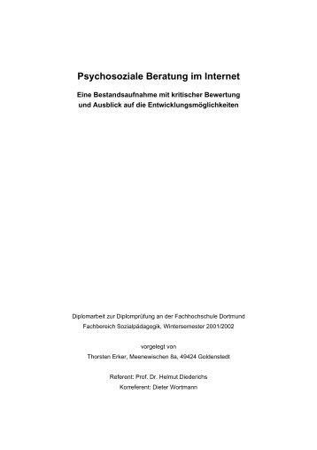 Psychosoziale Beratung im Internet - Socialnet