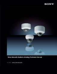 Sony Security Systems Analog Camera Line-up