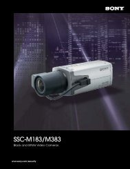 SSC-M183/M383 Brochure - Sony