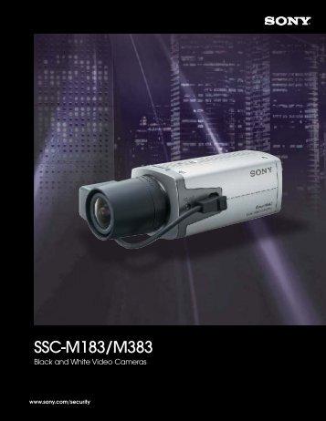 SSC-M183/M383 Brochure - Sony