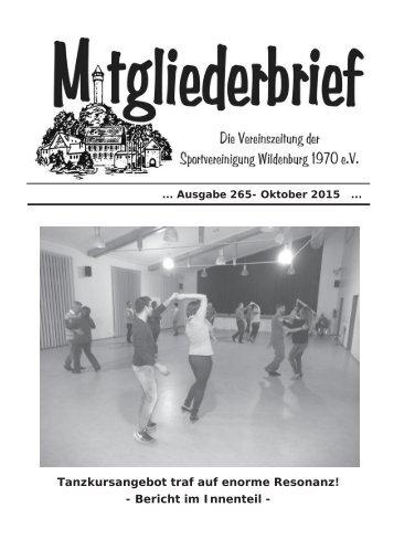 Ausgabe 265 - Oktober 2015