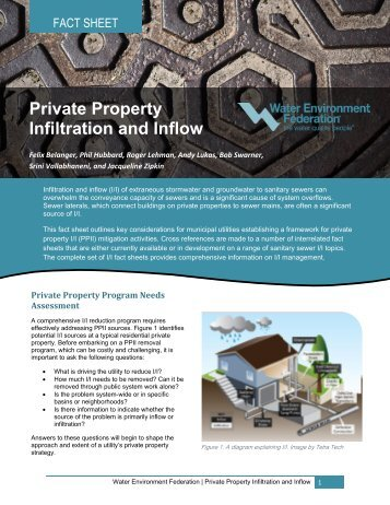Private Property Infiltration and Inflow