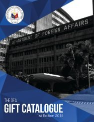 DFA Gift Catalogue 2015